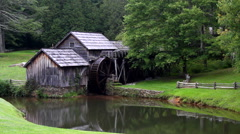 Stock Video Footage of Mabry Mill Blue Ridge Parkway