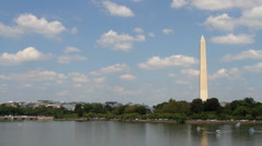 Washington Monument Skyline Stock Footage