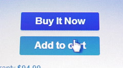4K HD Computer Click buttons Add to Cart Virtual shopping icon - stock footage