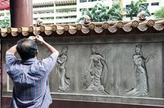 Kwan im thong hood cho temple Stock Photos