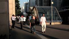 Paulista avenue and Trianon Masp Subway Station - Sao Paulo, Brazil Stock Footage