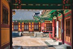 Traditional korean architecture at seokguram grotto in gyeongju, south korea. Kuvituskuvat