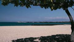 1080p, beach at mahaiula bay, hawaii Stock Footage