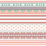 Tribal ethnic seamless stripe pattern. Vector illustration - stock illustration