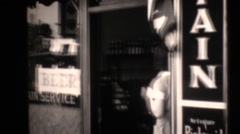 1938 oil drilling , petroleum, barmaids Stock Footage