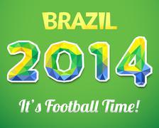 Brazilian 2014. Vector illustration for sport event Stock Illustration