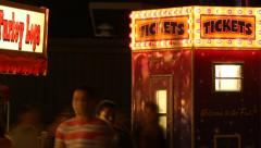 Carnival Vendor - Ticket Booth - stock footage