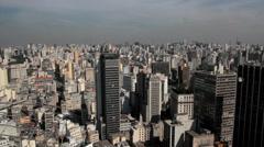 Sao Paulo, Brazil. Aerial view. Skyscraper. Cityscape. Stock Footage