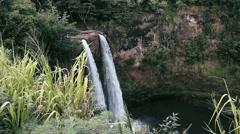 1080p, rainbow waterfall, hawaii Stock Footage
