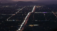 Simi Valley Sunset Time Lapse with Zoom Stock Footage