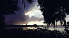 Florida Sunset Dolly Movement Stock Footage