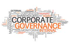 Stock Illustration of word cloud corporate governance