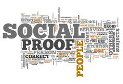word cloud social proof - stock illustration