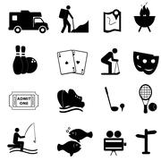 Leisure and fun icons Stock Illustration