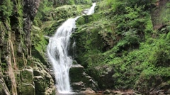 Magical Kamienczyk Waterfall. Used in The Chronicles of Narnia - Prince Caspian Stock Footage
