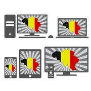 Electronic devices with the map of belgium Piirros