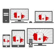 Electronic devices with the map of canada Piirros