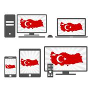 Electronic devices with the map of turkey Piirros