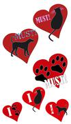 Must love animals cats dogs Stock Illustration