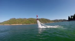 Gopro sport flyboard freestyle river Stock Footage