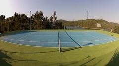 Men playing tennis Stock Footage