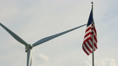 4K American Wind Turbine Stock Footage