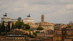 Light timelapse over Rome roof tops 4K Stock Footage