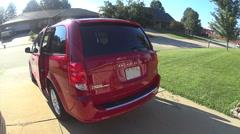 Minivan doors and trunk hatch opening - stock footage