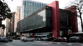 Traffic timelapse, Sao Paulo, Brazil - MASP Building,The Sao Paulo Museum of Art Footage