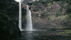 1080p, rainbow waterfall, hawaii Stock Footage