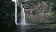 Stock Video Footage of 1080p, rainbow waterfall, hawaii