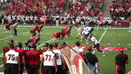 Stock Video Footage of College football game pass play