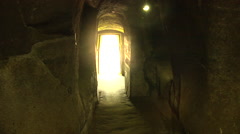 Inside a buddist temple elephant cave in Bali Stock Footage