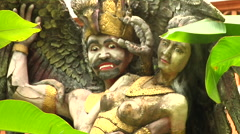 Ancient Sculpture in Bali Stock Footage