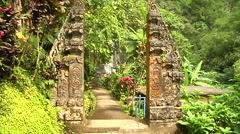 Ancient Sculpture in the Jungle in Bali Indonesia Stock Footage