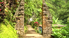 Ancient Sculpture zoom in the Jungle in Bali Indonesia Stock Footage