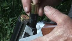Loading a Hunting Rifle - stock footage