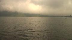 Fog Rising at sea Stock Footage
