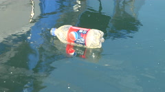 Trash in the Marina Stock Footage