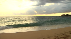 Sunset in Hawaii by the Ocean Stock Footage
