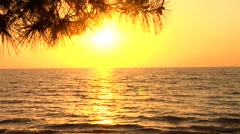 Sunset by the Lac Stock Footage
