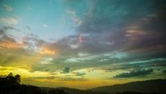Multicolored day to night time lapse sunset 4k 4096 x 2340 Stock Footage