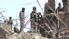 US Training for Afghan security forces Stock Footage