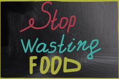 Stop wasting food Stock Illustration