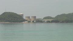 Nuclear Power Plant on Lake Biwa in Japan Stock Footage