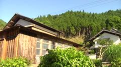 Houses Near Lake Biwa in Japan Stock Footage
