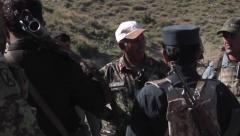 US training for Afghan Forces in location security Stock Footage