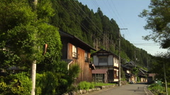 Houses and street Near Lake Biwa in Japan Stock Footage