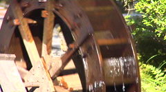 Waterwheel Near Lake Biwa in Japan Stock Footage