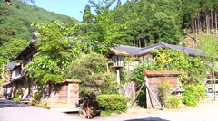 Houses and street view Near Lake Biwa in Japan Stock Footage